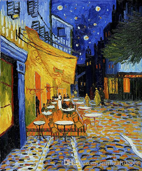 2018 Vincent Van Gogh Oil Painting Reproduction Starry Sky Canvas ...
