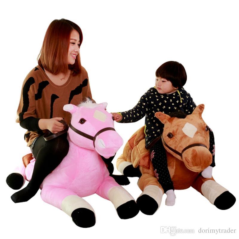 Dorimytrader Quality Cute Simulation Animal Horse Plush Toy Kids