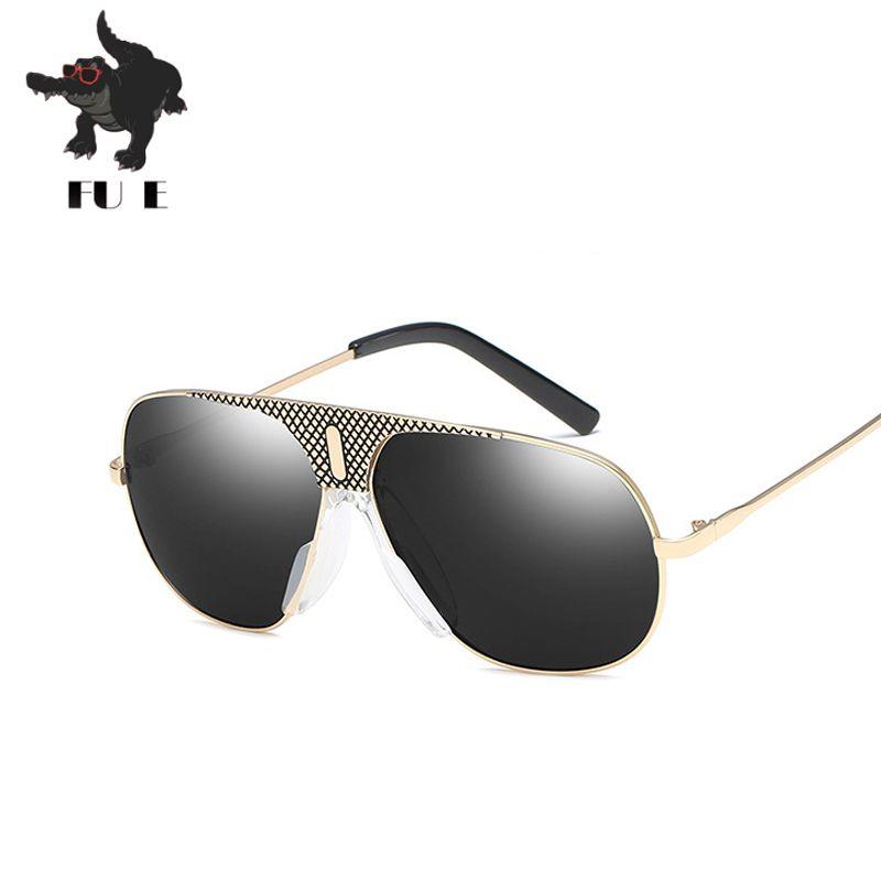 655de86d59 Compre Fu E Nuevas Gafas De Sol Hombres Diseñador De Marca De Moda De Metal  Gafas De Marco Personalidad Retro Sapo Uv400 Gafas De Sol 6656 A $12.26 Del  ...