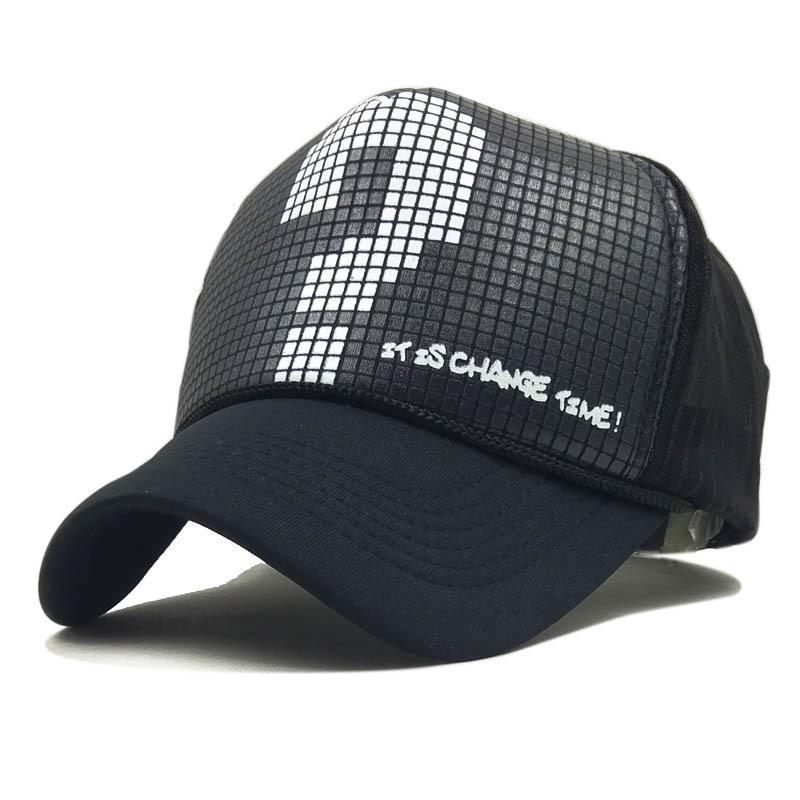 Satın Al Yeni Serin Hip Hop Kap Erkek Kadın Şapkalar Vintage Net ... eb6e52b94ee