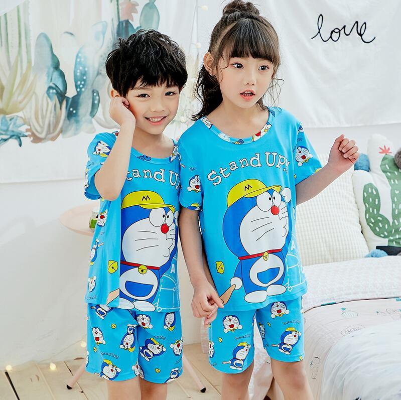 d6a865ca38 Children S Pajamas Set Summer 2018 Boys Girls Kids Clothing Sets Cartoon  Sleepwear Short Sleeve Baby Nightwear Pyjamas Set FD529 Red Christmas  Pajamas For ...