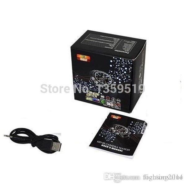 Cámara impermeable del reloj de la visión nocturna infrarroja de la Full HD 1080P 16GB Cámara del reloj de la visión nocturna W5000 de los deportes de DVR mini en caja al por menor