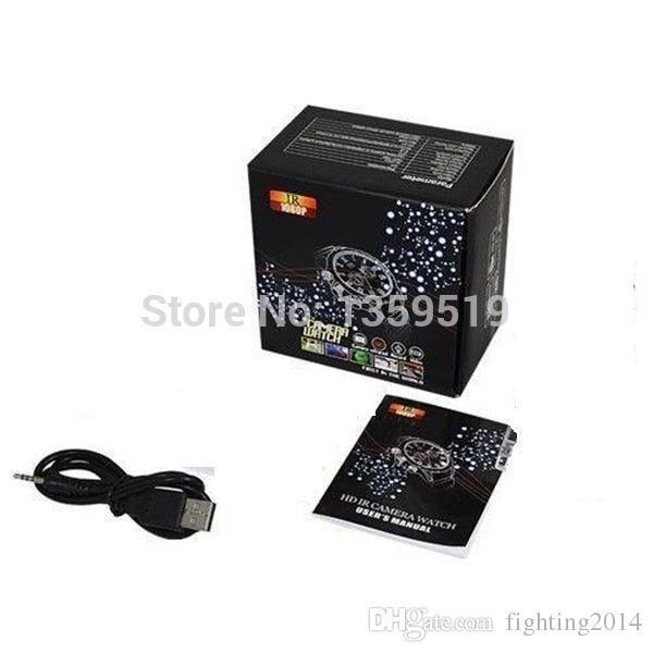 Impermeabile Full HD 1080P Infrarossi Night Vision 16GB Watch Camera W5000 Sport watch DVR mini videocamera Audio videoregistratore in scatola al dettaglio