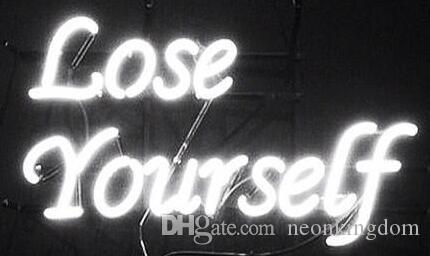 Lose yourself neon sign real glass tube bar store business lose yourself neon sign real glass tube bar store business advertising home decoration art gift display metal frame size 17x14 neon signs neon sign solutioingenieria Choice Image