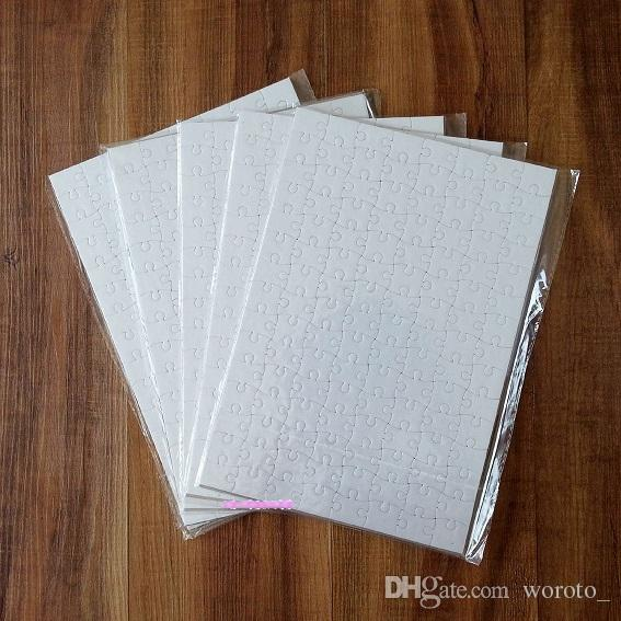 A4 Sublimasyon Boş Puzzle DIY Craft Isı Basın Transferi El Puzzle beyaz A4 Blank Bulmaca ücretsiz gönderim