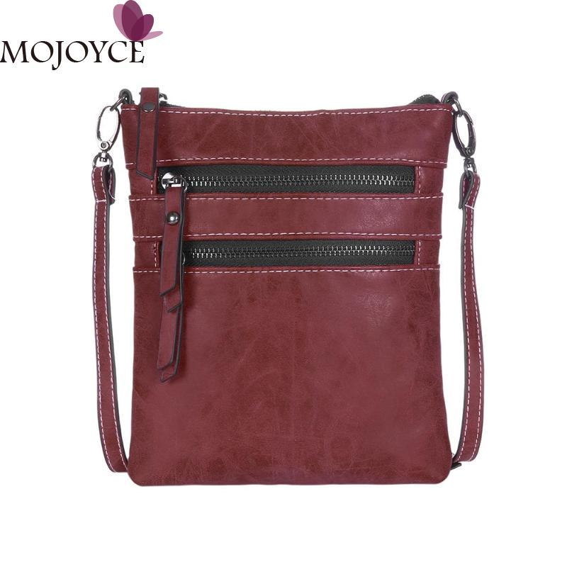 b3ecb79e8ce5 Vintage Unisex Messenger Bag Solid Color PU Leather Square Crossbody Bags  Handbags Casual Zipper Shoulder Handbag For Women Men Cross Body Purse Hobo  ...