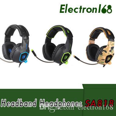 1c1d4ceb70e Compre SADES SA818 Auriculares Para Juegos De Ordenador PC Gamer Headset Para  PS4 Nuevo Xbox One Controller Teléfono Móvil Para Portátil Con Micrófono  Bass ...