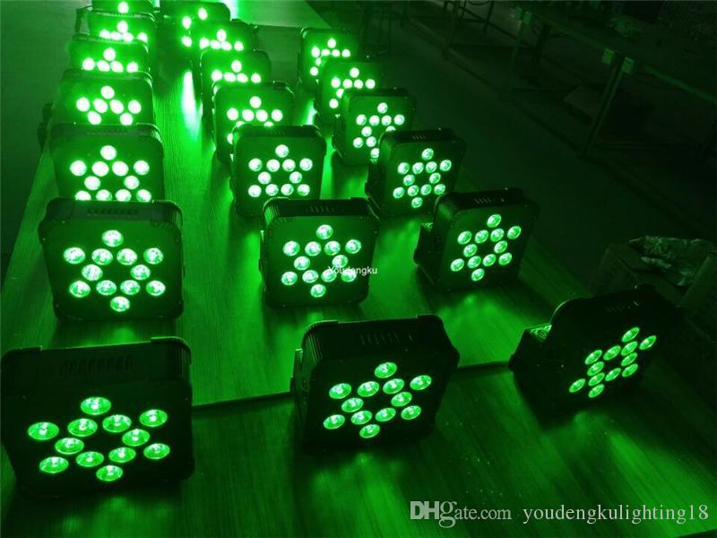 10 12 * 18w pas cher dmx sans fil alimenté par batterie uplighting plat led led canettes pour bar avec cas de charge