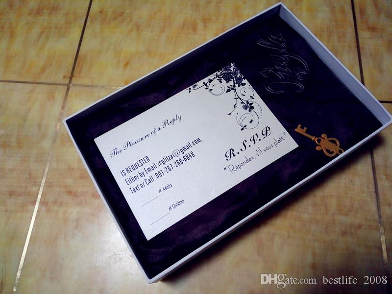 Superior customized white Wedding invitations RSVP,white invites RSVP card with black text white box not includedL165mmxW114mmBL-181051
