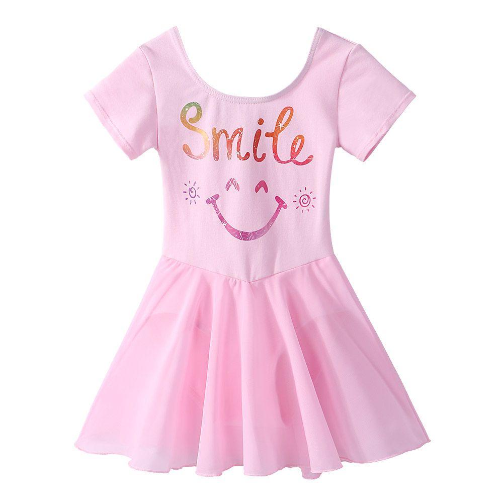 e2b8129959ab 2019 BAOHULU Cute Girls Smile Emoji Ballet Dress Tutu Gymnastic ...