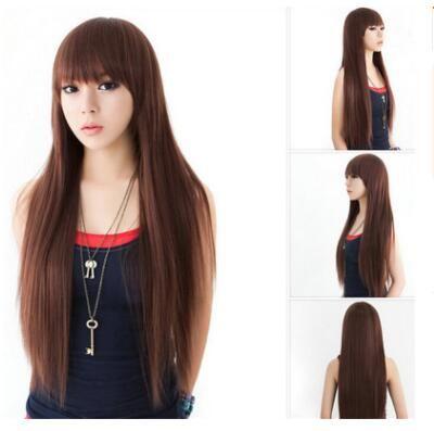 2018 Japan And South Korea New Fashion Long Straight Hair Qi Bangs