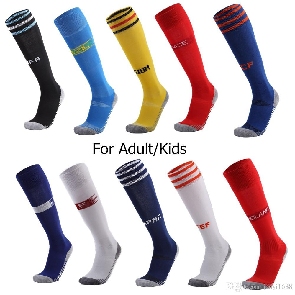 2403a42e09f 2019 New Professional Adult Children Soccer Socks Men Kids Sports  Breathable Knee High Football Sock Long Stocking Socks Women From  Junyi1688