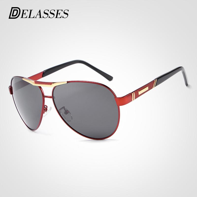238e076442 DELASSES UV400 Pilot Yurt Sun Glasses Men New Polarized Sunglasses Classic  Design Driving Fishing Goggles Oculos De Sol For Male Designer Eyeglasses  Womens ...