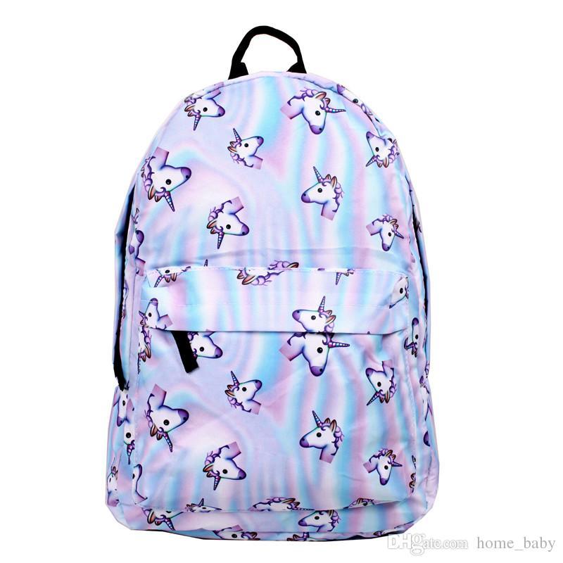 Kids Backpacks Pink Unicorn Backpack Children School Bags Adult
