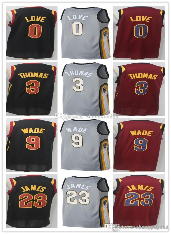 19e35a648 2018 City Edition Gray Mens 23 LJ 9 Dwyane Wade 1 Derrick Rose 3 Isaiah  Thomas 0 Kevin Love All Star Stitched Jersey Derrick Rose Kevin Love  Basketball ...
