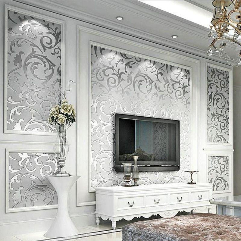 Luxury European Modern Wallpaper Non woven Mural Wallpapers