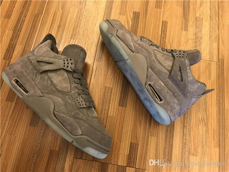 ceda6f715651 KAWS X 4s Iv Denim J S Jeans Cool Grey Black Suede Toro Bravo Bred Oreo  Thunder Cement 4s Men Basketball Shoes Sports Sneaker Shoes Sale Sneakers  Shoes From ...