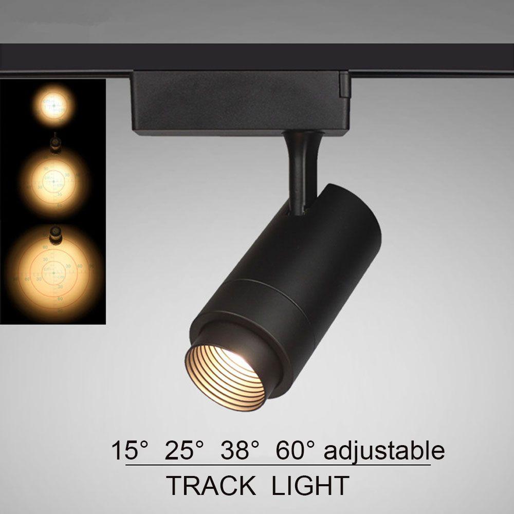 san francisco f3d46 52593 Beam Angle Adjustable 12W 7W 15W 10w COB LED Track Light Spot Light Ceiling  Mounted Rail Track Lamp Decorative Led spotlight