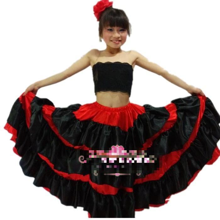7a029290b1e Acheter Robe De Danse Flamenco Pour Fille Robe De Flamenco Fille Paso Doble Dance  Costume Pour Fille Samba Robe De Bal De  29.28 Du Firstcloth