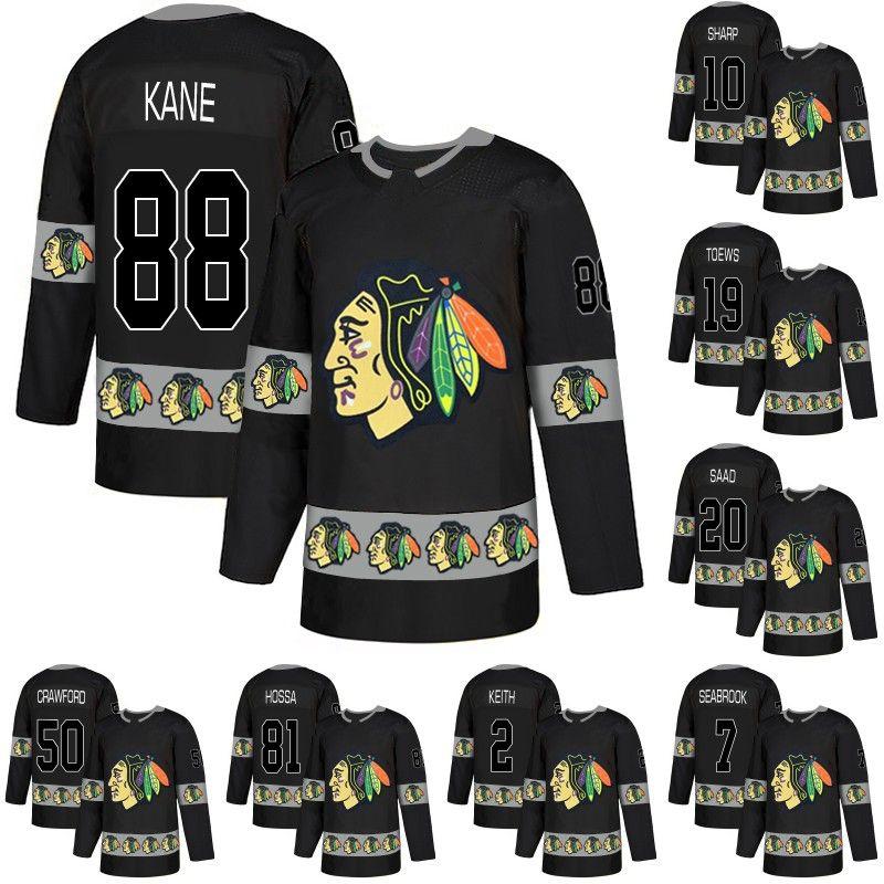 f3bb05a69 Men 88 Patrick Kane Jersey Chicago Blackhawks 2 Duncan Keith 19 ...