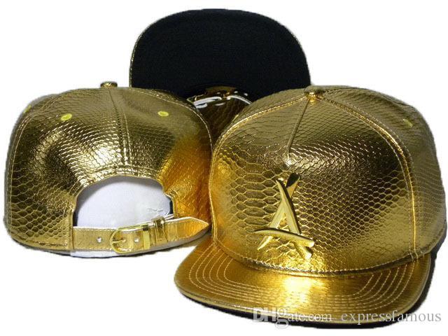 New Tha Alumni Snapback Caps Gold A hip hop sport hats baseball Snap backs top quality flat brim men's adjustable caps