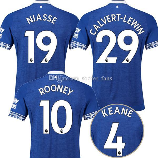 18 19 Everton Soccer Jerseys 2018 2019 ROONEY Klaassen Keane ... f21897958