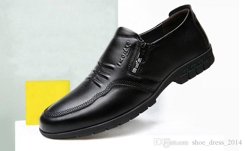Schuhe Herrenschuhe Neue Frühjahr Mode Oxford Business Männer Schuhe Aus Echtem Leder Hohe Qualität Weiche Casual Atmungsaktive Männer Der Wohnungen Schuhe Größe 38-47 Bestellungen Sind Willkommen.