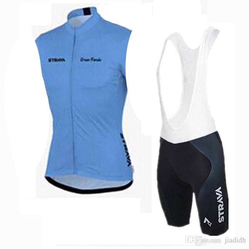 STRAVA equipe Ciclismo Mangas Curtas jersey bib shorts conjuntos de bicicleta Ao Ar Livre conjunto de bicicleta fresco e confortável verão c2413 respirável