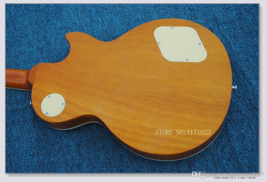 Chitarra elettrica con manico a mano sinistra Goldtop con manico in oro a un pezzo HOT