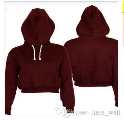 Günstige feste Pullover Sudaderas Mujer 2017 Frühling Frauen Hoodies Sweatshirts 3 Farben Größe Mode feminino kurzen Stil