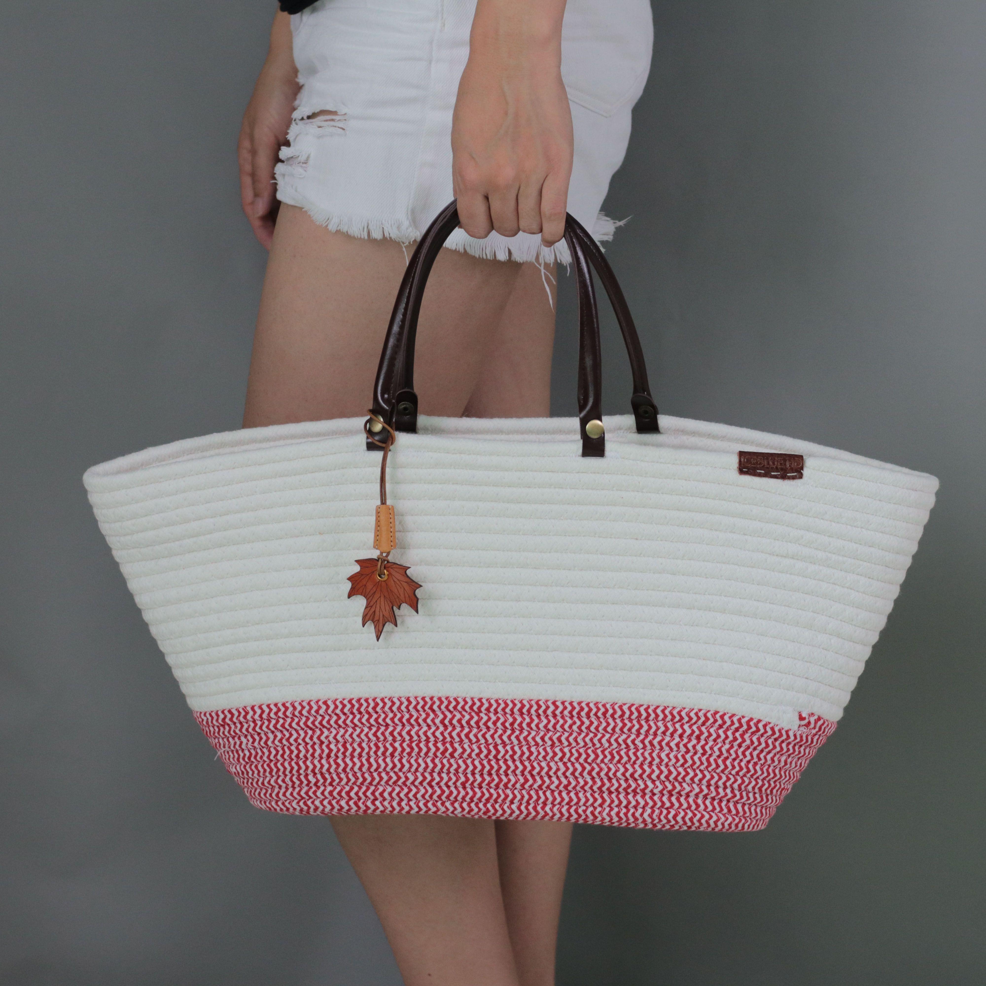 Iceblue beach pool picnic tote bag fashion cotton woven shoulder jpg  4000x4000 Beach picnic tote afe729cdcf6d0