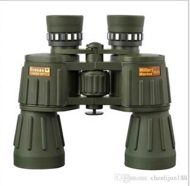 Double cylinder 10x50 high power high-definition eyepiece, military green non infrared night vision telescope