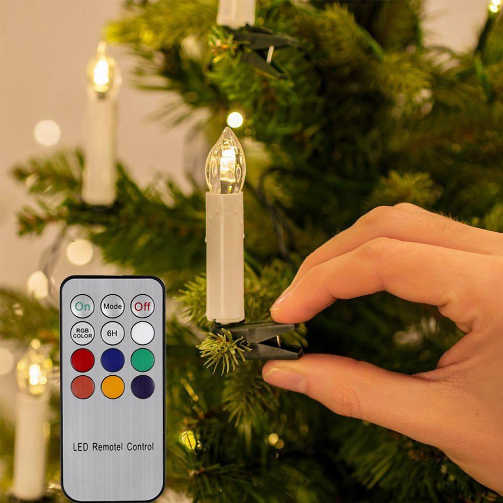 10 led candle light flameless flickering remote control christmas tree decor for home electronic candle event party supplies christmas cake decorations