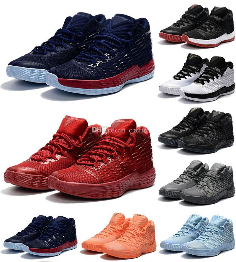 2018 New MELO M13 Men Basketball Shoes GYM RED ROYAL BLUE Black High  Quality Melo M13 13 XIII Carmelo Mens Basketball Sneakers Girls Basketball  Shoes Best ... 5deb5e26b