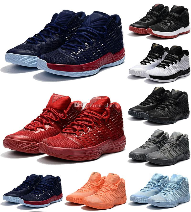 Chaussures Blue M13 Red Noir Carmelo Nouvelles Hommes Qualité Gym Baskets Royal 2018 Xiii 13 Melo Haute De Ball Basket LS45Aq3cjR