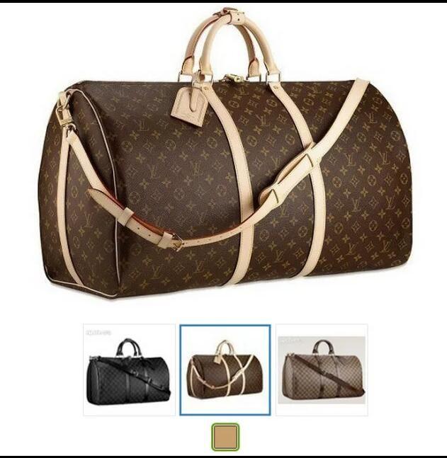 Louis vuitton Designer handbag luxury designer travel bag handbag clutch bag  high capacity quality PU leather 55cm 9243b77199333