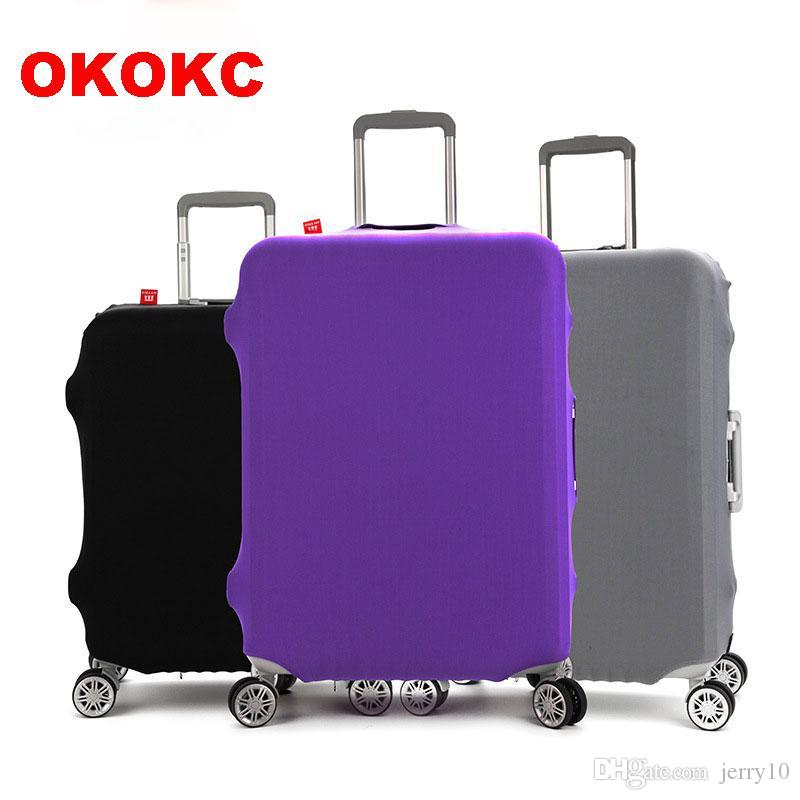 60a3fdec7392 OKOKC Thicken Wearable Pure Color Travel Luggage Suitcase Protective  Cover,Stretch, made for S/M/L/XL, Apply to 18-32inch Cases