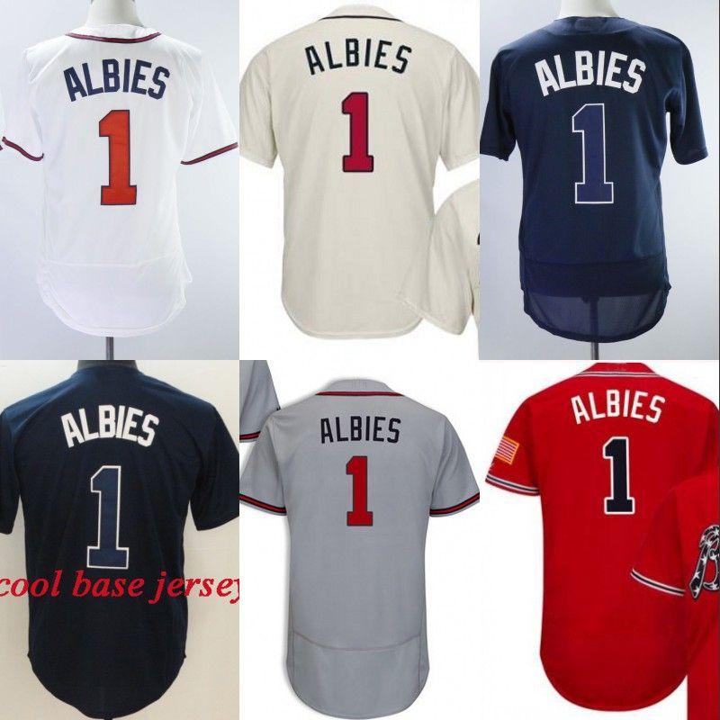0a7761e8696 Atlanta #1 Jr. Ozzie Albies Cool Base Felx Base High Quanlity ...