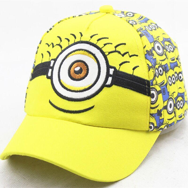 Cotton Fashion Cartoon Minions Monocular Children Baseball Caps Boy Girl  Sunshade Hats Lovely Child Hip Hop Caps Ball Caps Fitted Caps From  Cfyh2018 6cddd8277f03