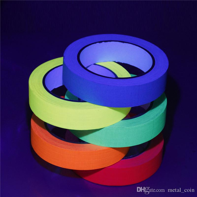Roadway Safety Colorful Reflective Tapes Glow Self-adhesive Sticker Luminous Fluorescent Glowing Tapes Dark Striking Warning Tape In Pain