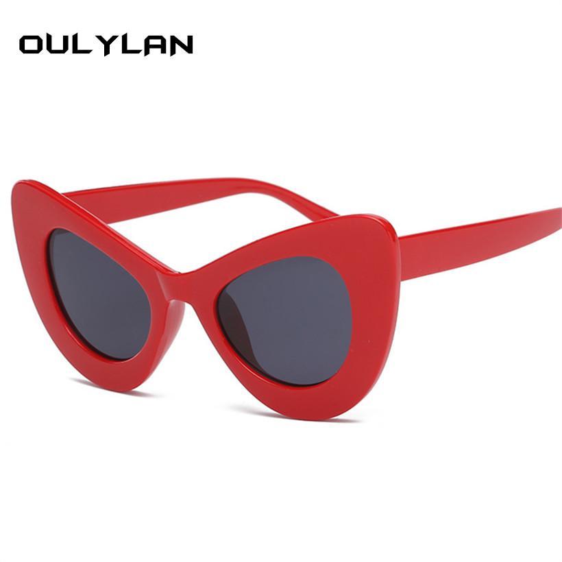 c768621a65 Oulylan Cat Eye Sunglasses Women Clout Goggles Kurt Cobain Glasses  Oversized Butterfly Sun Glasses Design UV400 Sunglasses Cheap Sunglasses  Oulylan Cat Eye ...