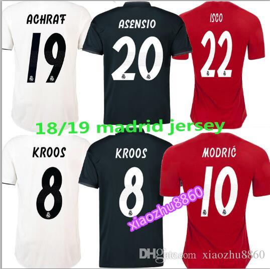 2019 A+++ 2018 2019 Real Madrid Home Away Soccer Jerseys 18 19 HAZARD  ASENSIO BALE RAMOS ISCO MODRIC Football Shirt Thailand Quality From  Xiaozhu8860 e2127d25d