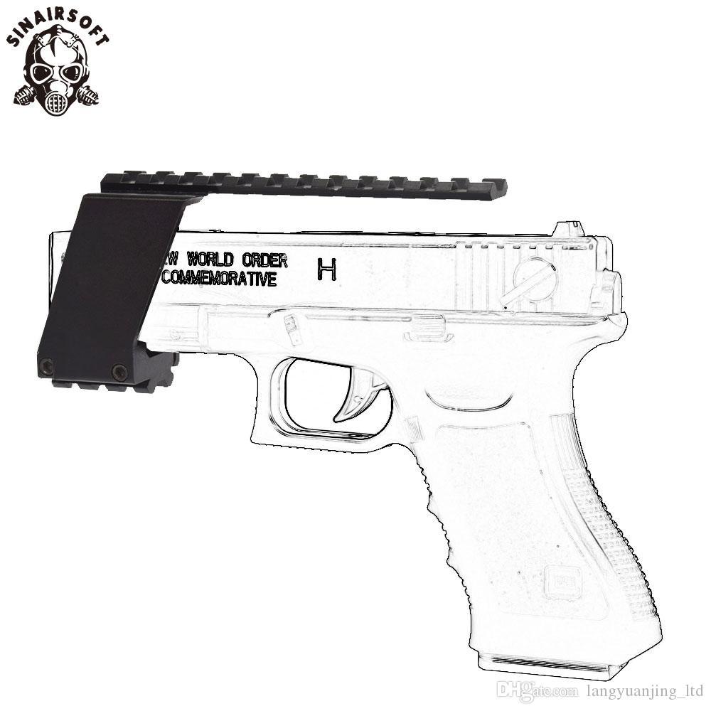 Airsoft gun pistol rail top bottom set