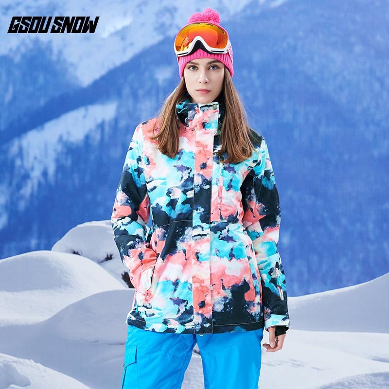 e6466db370 2019 GSOU SNOW Brand Ski Snowboard Jackets Womens Waterproof Skiing  Snowboarding Coats Female Winter Cheap Snow Clothes Warm Suits From  Dragonfruit