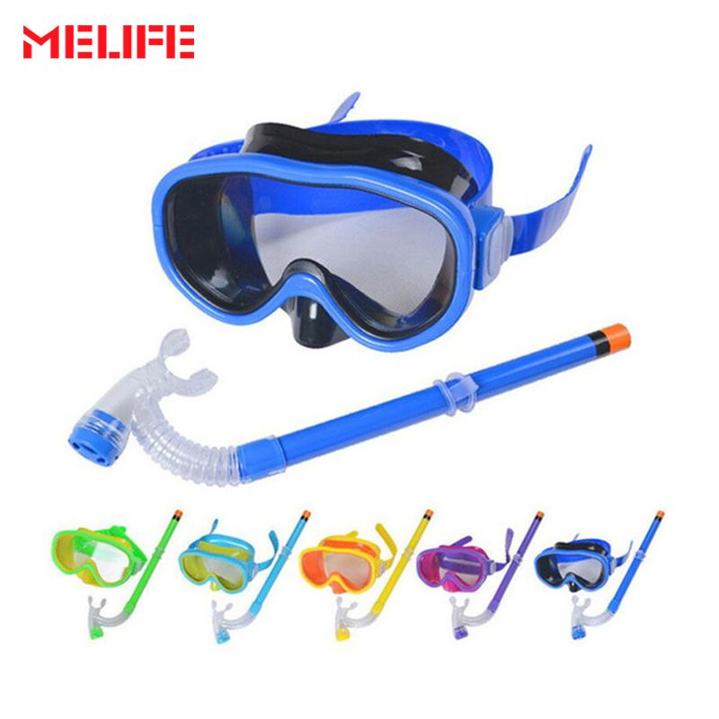 88d16aa9936 2018 Children Swimming Diving Glasses Snorkeling Gear Set Kids Swim ...