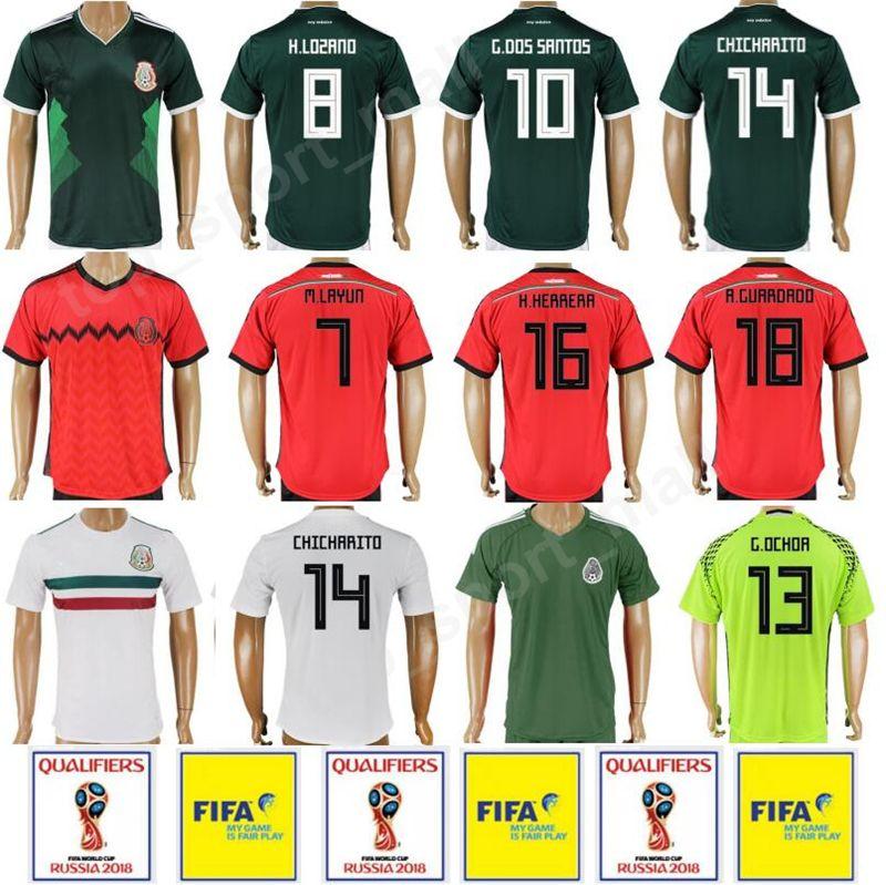 d7e6620ae ... sweden online cheap mexico soccer jersey 2018 world cup camiseta de  futbol 16 hector herrera 18