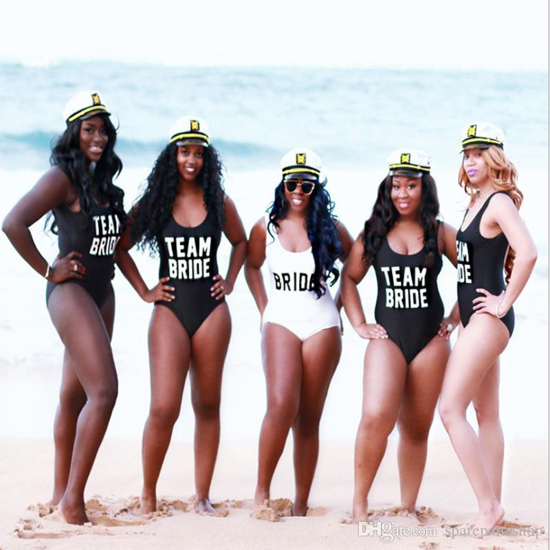 dd057d77ea9d2 Team Bride Squad Party Swimsuits Bridesmaid Gifts Hen Bachelorette Parties  Swimming Suits Wholesale Supplies Wedding Favor Wedding Favor Bags From ...