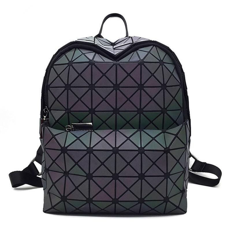 Luminous Backpack Women Leather Geometric Backpacks Diamond Lattice  Drawstring Backpacks Holographic Backpack Backpacks Cheap Backpacks  Luminous Backpack ... bb775dbdf6f3f