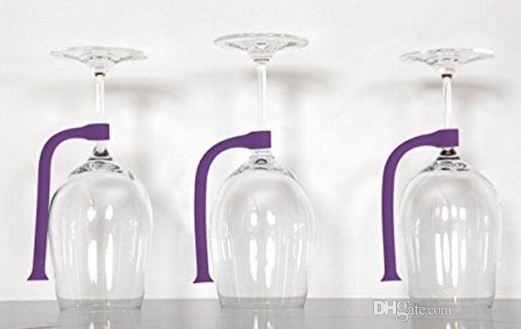 İlginç Tether Stemware Tasarrufu 4 adet / takım Tasarrufu Esnek Bulaşık Makinesi Aksesuarları Silikon Cam Dirsek Yaratıcı Şarap Cam Asılı Mutfak Araçları