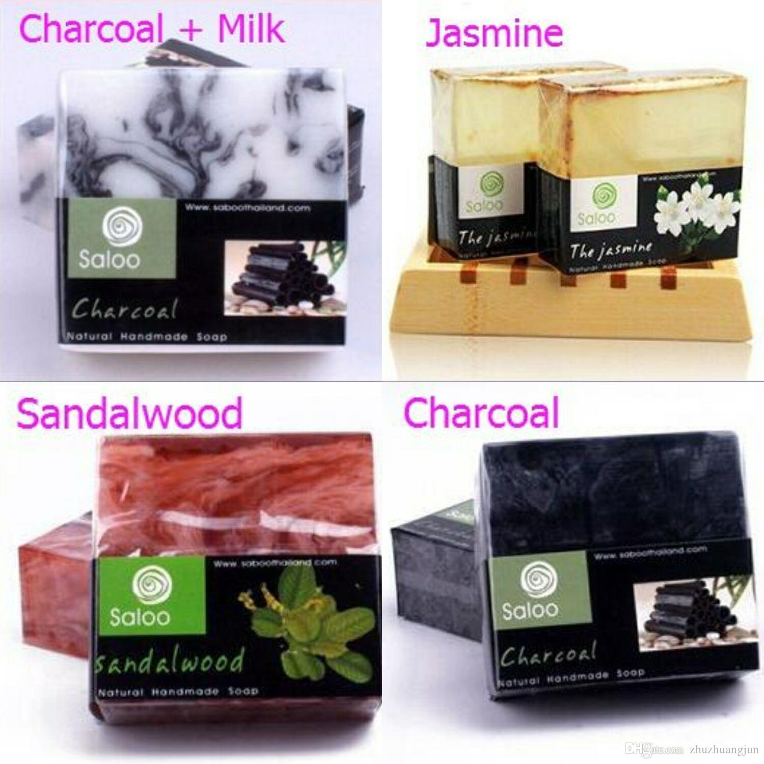 14 Styles Handmade Soap Thai Essential Oil Soap Rose Milk Deep Sea Mud Bamboo Charcoal Whitening And Moisturizing Cleansing Soap Homemade Natural Soap ...